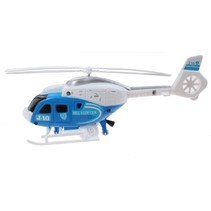 Helikopter blauw 23 cm