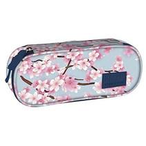 etui bloemen meisjes 22 x 9 cm polyester roze/blauw