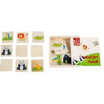 memoryspel junior 12,5 cm hout 17-delig