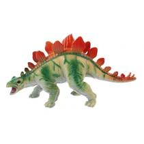 dinosaurus Animal World Miragaia 16 cm groen/oranje