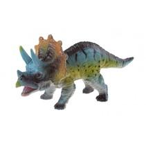 dinosaurus Animal World Triceratops 14 cm blauw