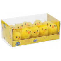 paaskuikens geel 3,5 cm 10 stuks