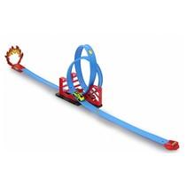 racebaan Double Looping 117,5 cm blauw
