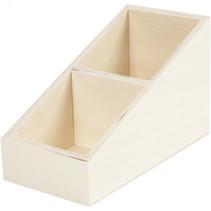 displaydoos met tussenschot 12 x 19,5 cm hout blank