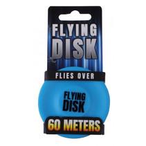frisbee 6,5 x 1,5 cm siliconen blauw