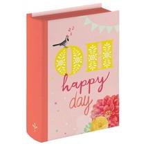 opbergboek Happy Day roze 10 cm