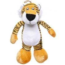 knuffel tijger geel/zwart 30 cm
