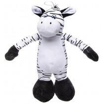 knuffel zebra zwart/wit 30 cm