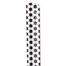 klaparmband voetbal 22 x 3 cm zwart/wit