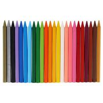 waskrijt Plastidecor gekleurd junior 24 stuks