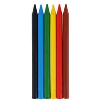 waskrijt Plastidecor gekleurd junior 6 stuks