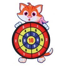 dartspel met ballen kat 34 cm