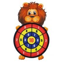 dartspel met ballen leeuw 34 cm