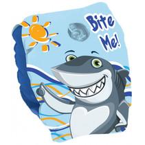 zwemvleugeltjes Shark junior 25 x 15 cm PVC blauw/wit