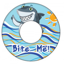 zwemring Shark junior 51 cm blauw/geel/grijs