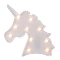 eenhoornlamp led-verlichting meisjes 26 cm wit
