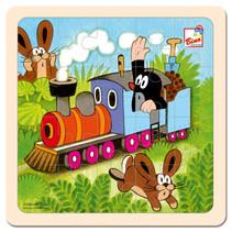 legpuzzel Mole Locomotief junior 20 cm hout 20-delig