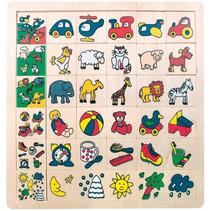 leerpuzzel Match The Pictures junior 31 cm hout 37-delig