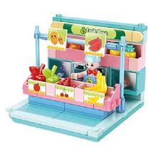 groentewinkel junior 14,6 cm blauw/roze 100-delig