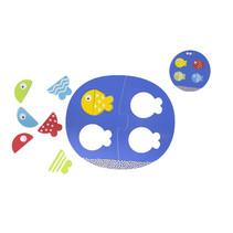 puzzel Fish Match & Mix junior 25 x 19 cm blauw 12-delig