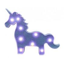 eenhoornlamp led junior 31 x 25 cm blauw