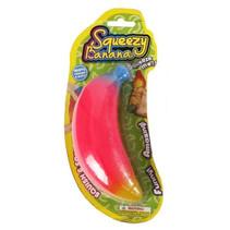 speelfiguur Squeezy Banana 14 cm foam roze