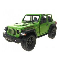 jeep Wrangler jongens pull-back 15 cm staal groen