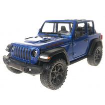 jeep Wrangler jongens pull-back 15 cm staal blauw