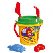strandspeelgoed set junior 17 x 27 cm geel/groen/rood