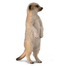 speelfiguur meerkat junior 2 x 6 cm beige