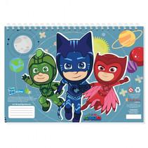 schetsblok PJ Masks junior A4 lichtblauw 30 pagina's