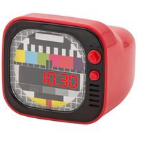wekker TV junior 8 x 9 cm ABS rood