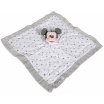 knuffeldoekje Disney Mickey Mouse 40 cm pluche wit