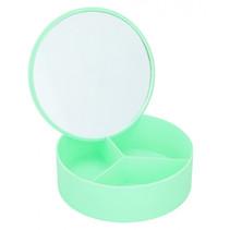 sieradenkistje met spiegel meisjes 14 cm groen