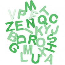 strandspeelset alfabet junior groen 26-delig