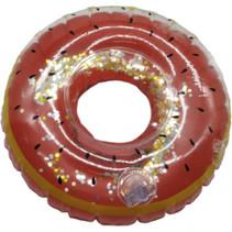 opblaasbare bekerhouder donut 17 cm bruin
