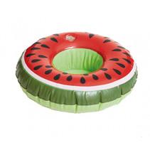 opblaasbare bekerhouder Meloen 19 cm rood/groen