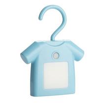 decoratieverlichting T-shirt junior 13 cm led ABS blauw