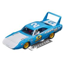 "auto Plymouth Superbird ""No.2"" 14 cm blauw/wit"