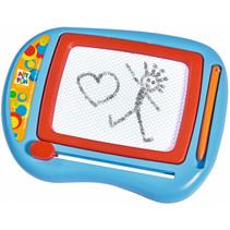 tekenbord Art&Fun klein junior 25 x 17 cm blauw/rood