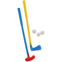 golfset Mini junior 54 x 10 x 6 cm blauw/geel 5-delig