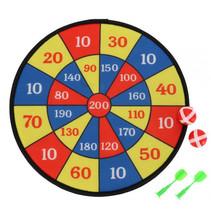 dartbord junior 37 x 43 cm rood/blauw/geel 5-delig