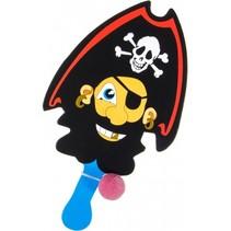 racket met bal piraat blauw/zwart