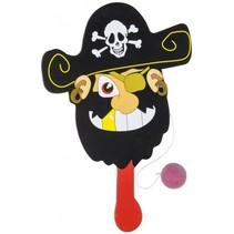 racket met bal piraat rood/zwart