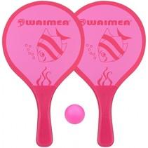 beachball set Animal 3-delig roze