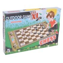 speelmat schaken junior 80 x 65 cm vilt zwart/wit