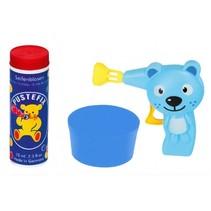 bellenblaaspistool kat met bellenblaas 70 ml blauw