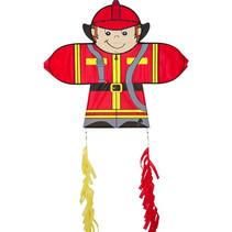 vlieger Skymate Fireman 71 x 64 cm polyester rood/geel
