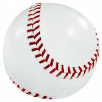 rounders bal 19,5 cm leer wit/rood