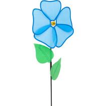 windmolen bloem Ecoline 64 cm polyester blauw/groen